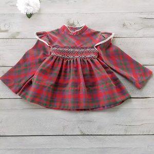 Vintage Polly Flinders Hand Smocked Dress 4T